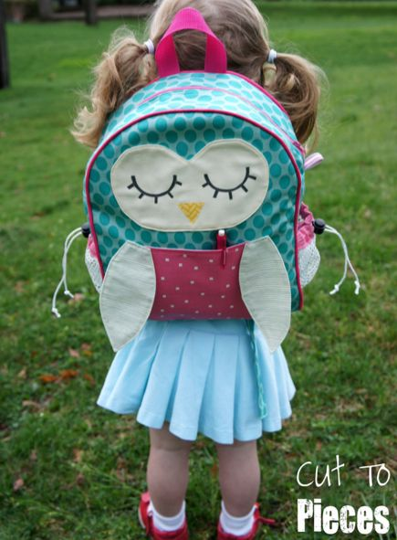 Make your own owl pattern backpack!