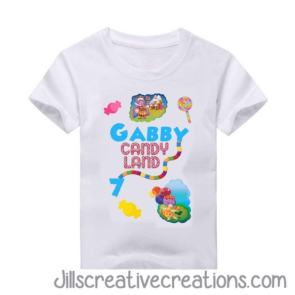 Girls Red /& Candyland T-Shirt Game Night Candy Land Tee Shirt