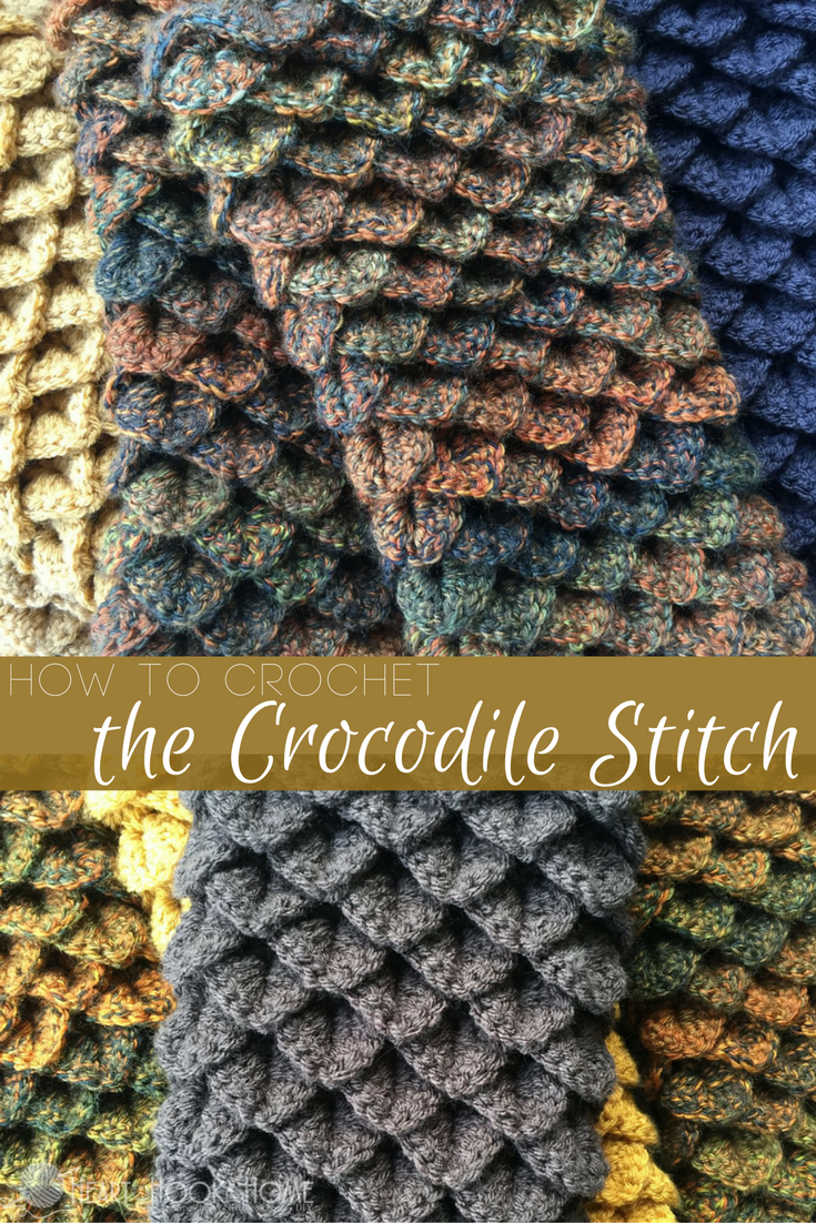 How To Crochet The Crocodile Stitch Video Tutorial Heizen