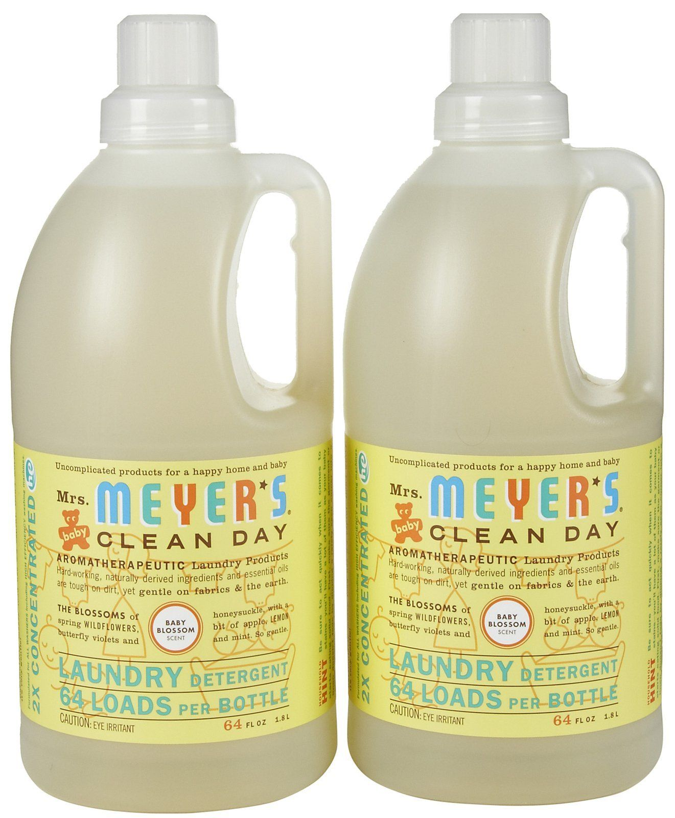 Mrs Meyer S Clean Day Laundry Detergent Baby Blossom 64 Oz