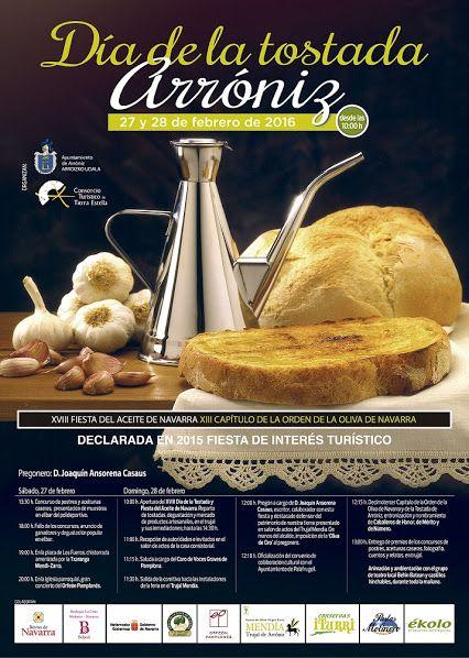 Día de la Tostada de Arróniz. Miles de tostadas con el riquísimo aceite de #Navarra