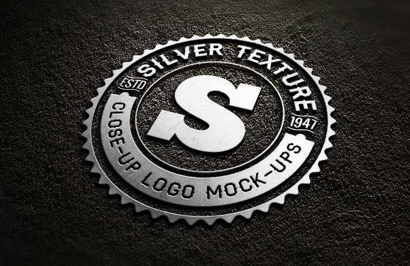 Silver Close Up Free Logo MockUp Free logo mockup, Logo
