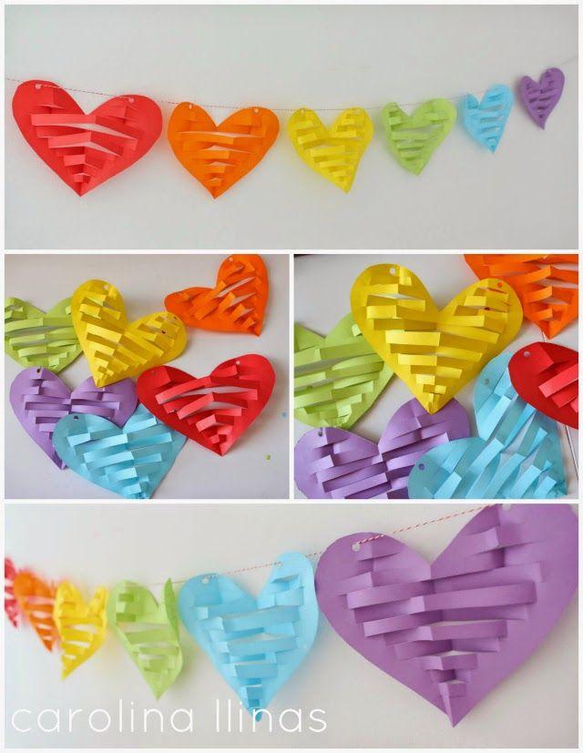 Corazones Para San Valentin Manualidades Pinterest San - Decoracion-san-valentin-manualidades
