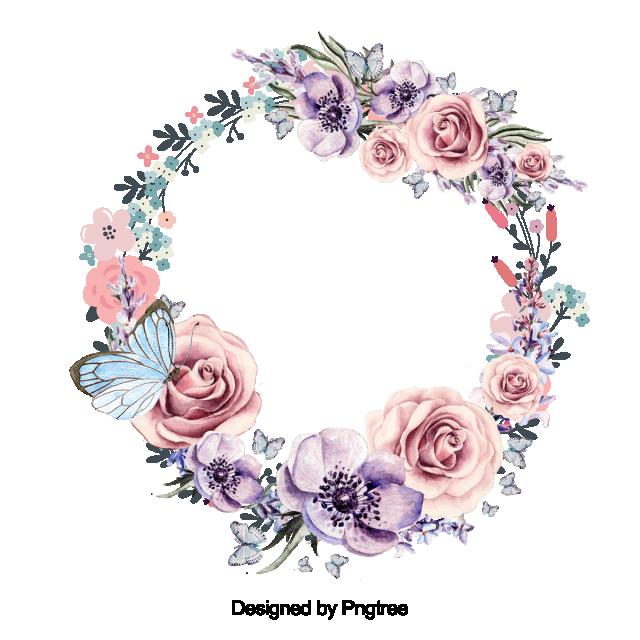 2020 的 Beautiful Flower Wreath With Leaves Design, Flower