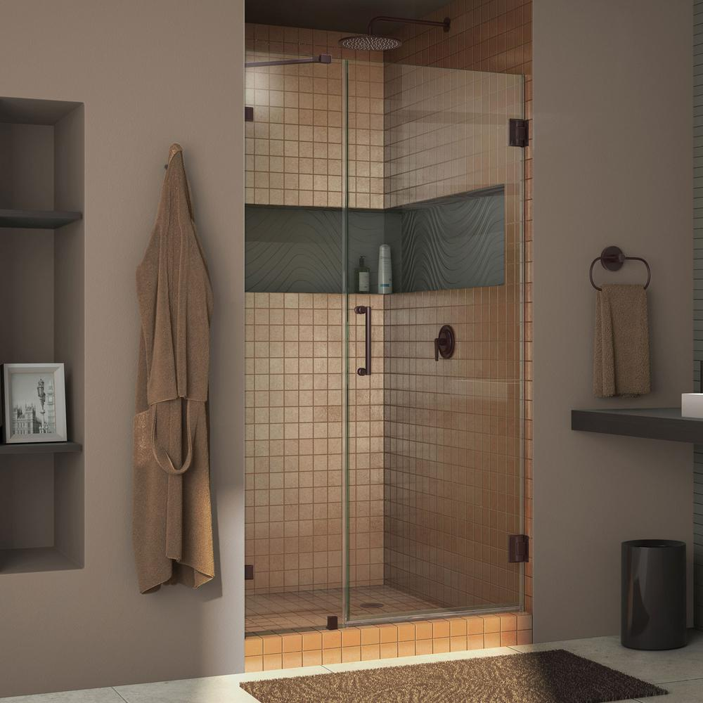 Dreamline Unidoor Lux 43 In X 72 In Frameless Hinged Shower Door