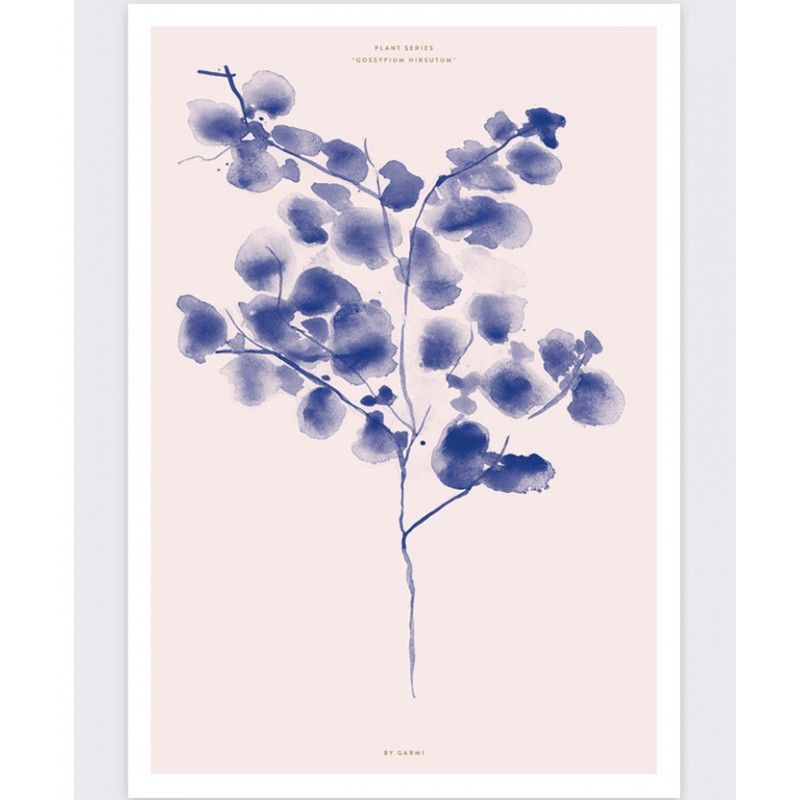 The botanic Cotton plant illustration by Garmi is a perfect gift forplant lovers.Size:   A3Printed on 180g matt paper.A Danish illustration: (By) GarmiPlease note that the poster is sold unframed and shipped in a tubeShop for A3 (30cm wide) poster frames here.