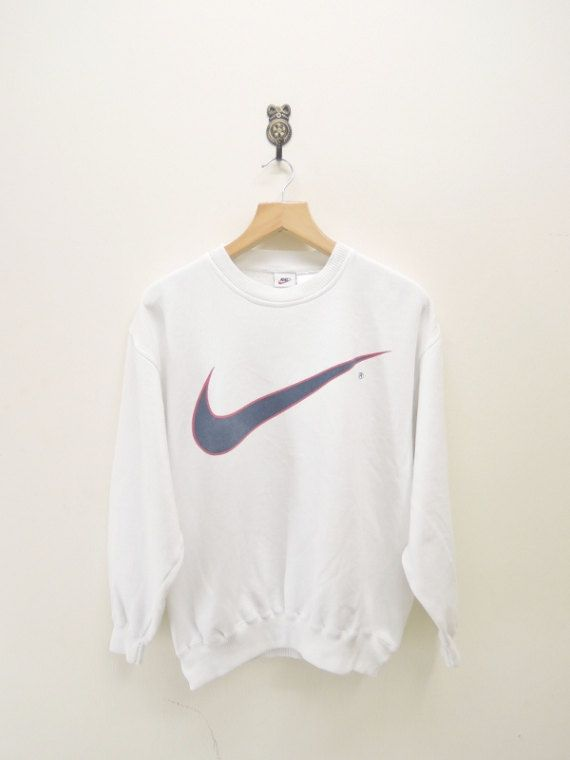 Vintage Nike Swoosh Sweatshirt Sport Hip Hop by RetroFlexClothing