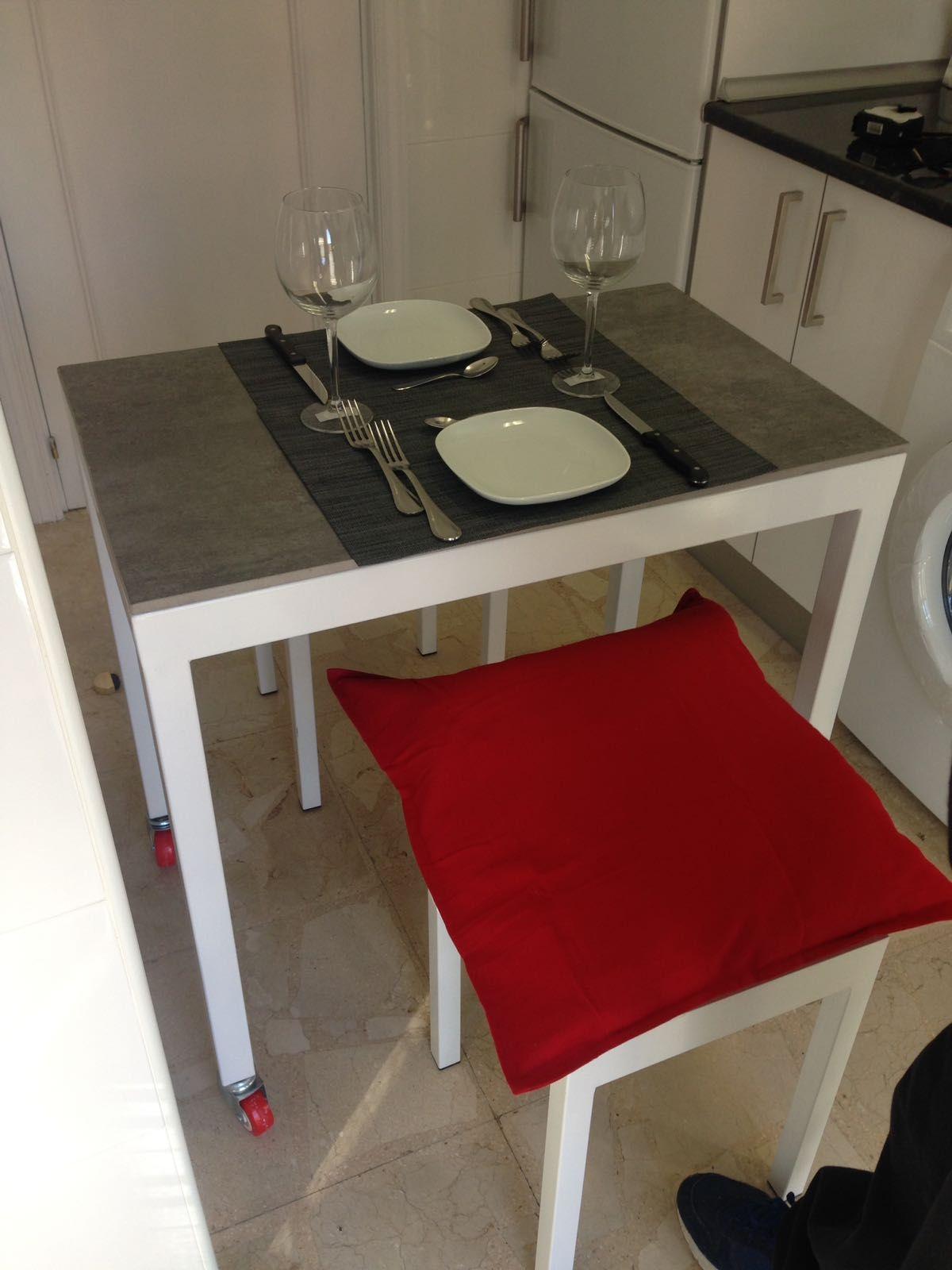 Mesa auxiliar cocina. En acero y cerámica. DISEÑO TECNICO EN METAL ...