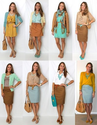 Today's Everyday Fashion: Predictable | Spring, Skirts and Work ...