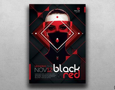 Check Out New Work On My Behance Portfolio Black And Red Flyer