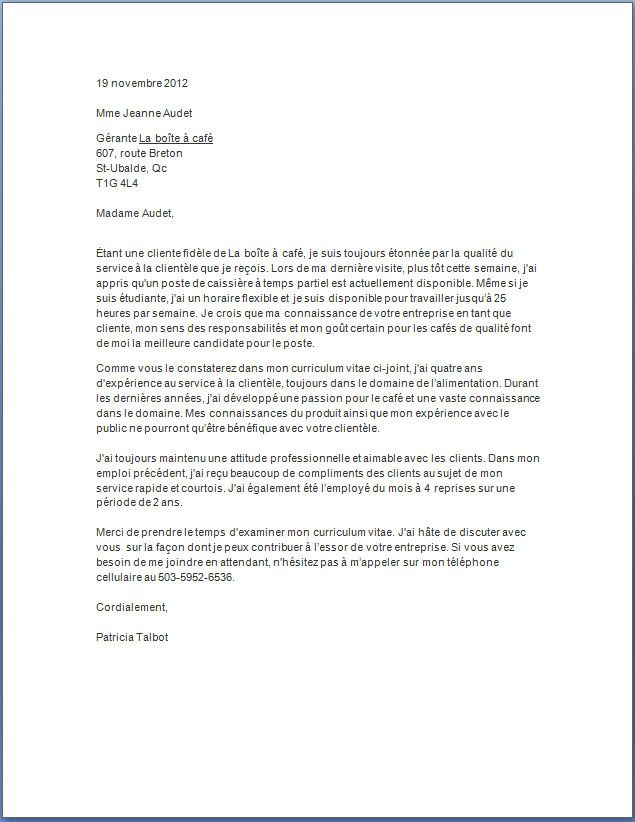 Lettre De Motivation Caissiere De Restaurant Emploi Etudiant Lettre De Motivation Exemple Lettre Motivation Lettre De Motivation Etudiant
