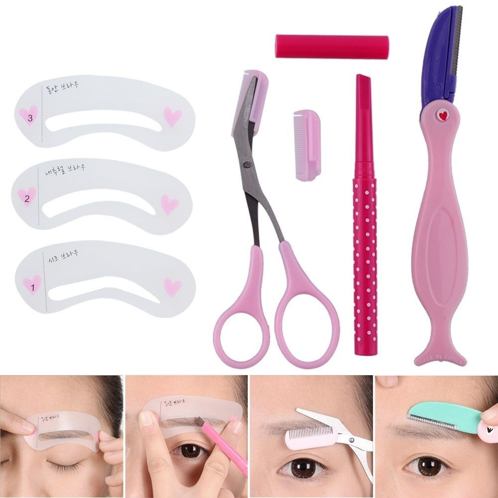4 In One Set Eyebrow Stencil Barber Shop Pinterest Eyebrow
