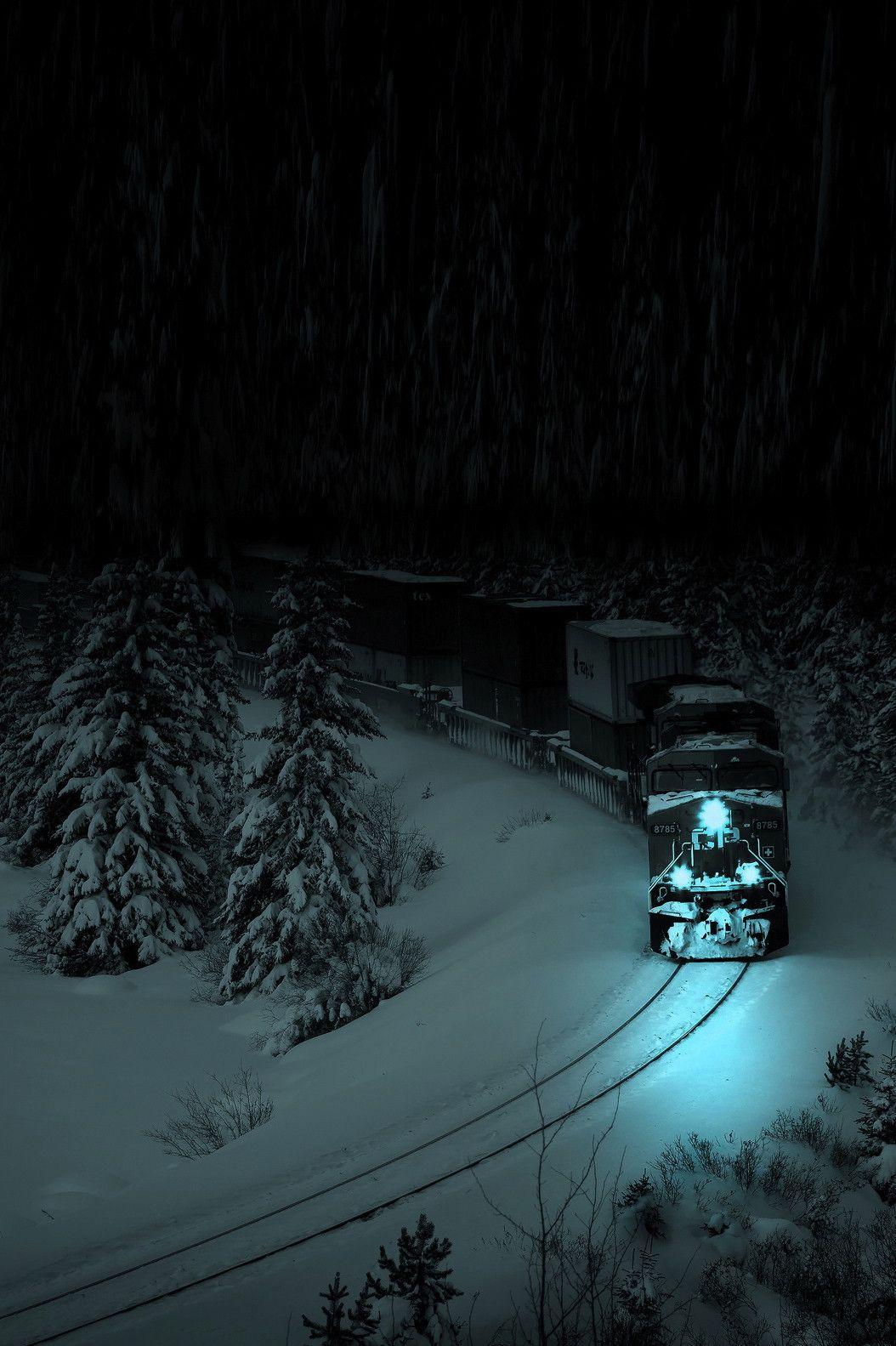 Cool Train Picture Night Train Train Pictures Train Tracks Hd wallpaper winter snow train forest