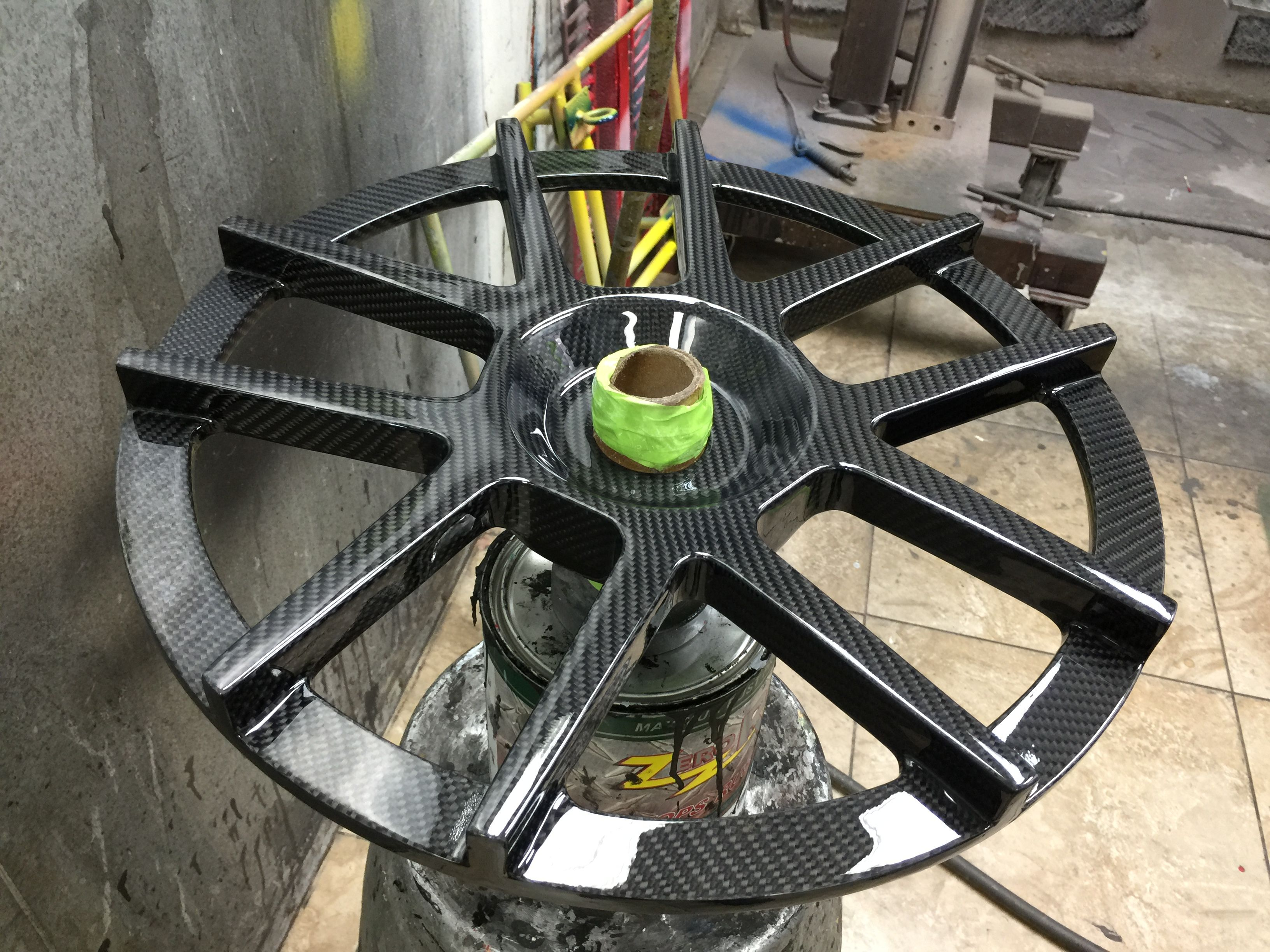Full Carbon Fiber Wheel Made With Forged Composites And Weighs