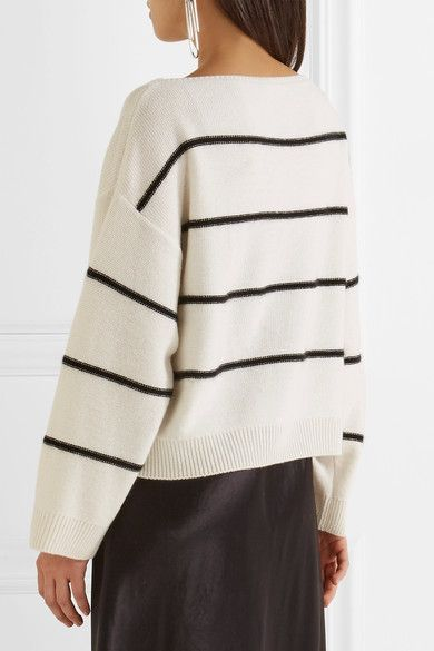 9524d3ceb654 Vince - Striped Cashmere Sweater - Ivory | Cashmere | Cashmere ...