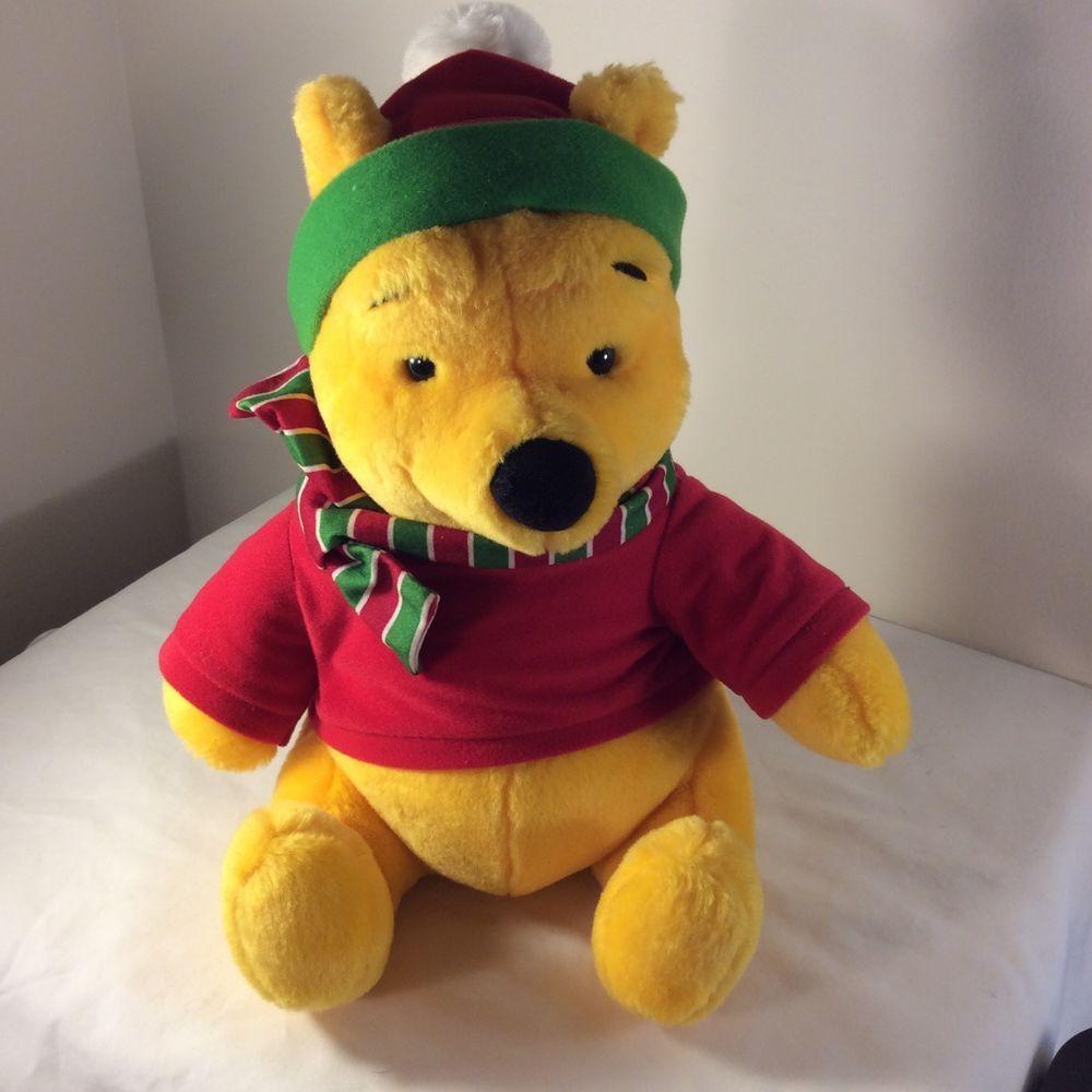 2ee27aecf097 Disney Mattel Winnie the Pooh BEAR Plush Stuffed Animal 12