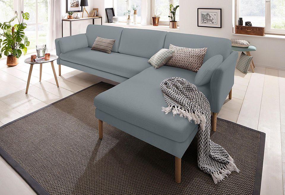 andas Ecksofa »Helsingborg«, in skandinavischem Design in 2 - wohnzimmer sofa braun
