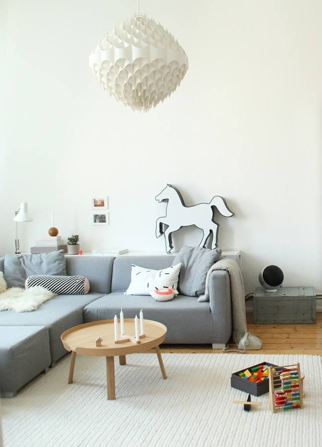 Wohnzimmer, Couch, Sessel, Tisch, Holz, Kiste, Pferd, Deko, Decke - decken deko wohnzimmer