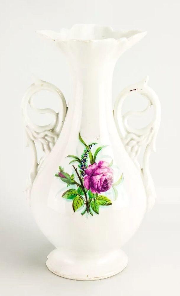 kpm berlin vase porzellan wei rosen motiv vintage royal porcelain vase germany porcelain. Black Bedroom Furniture Sets. Home Design Ideas