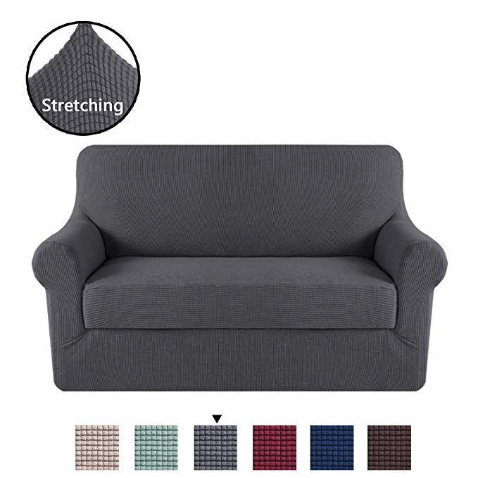 Superb H Versailtex High Stretch Rich Jacquard 2 Piece Sofa Cover Bralicious Painted Fabric Chair Ideas Braliciousco
