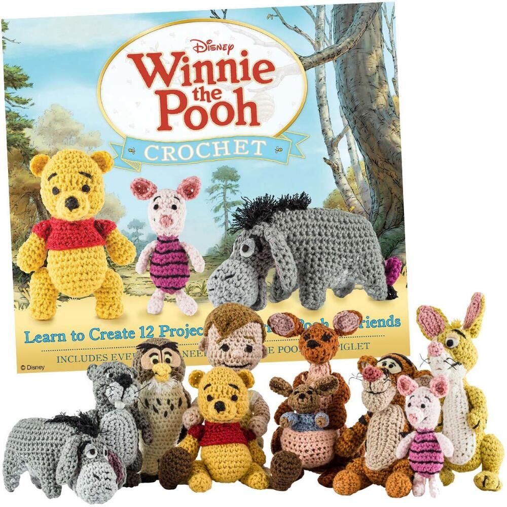 Learn to Create 12 Projects Featuring Pooh and.. KIT Winnie the Pooh Crochet