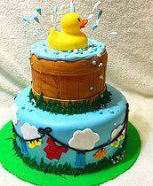 rubber ducky smash cake - Google Search