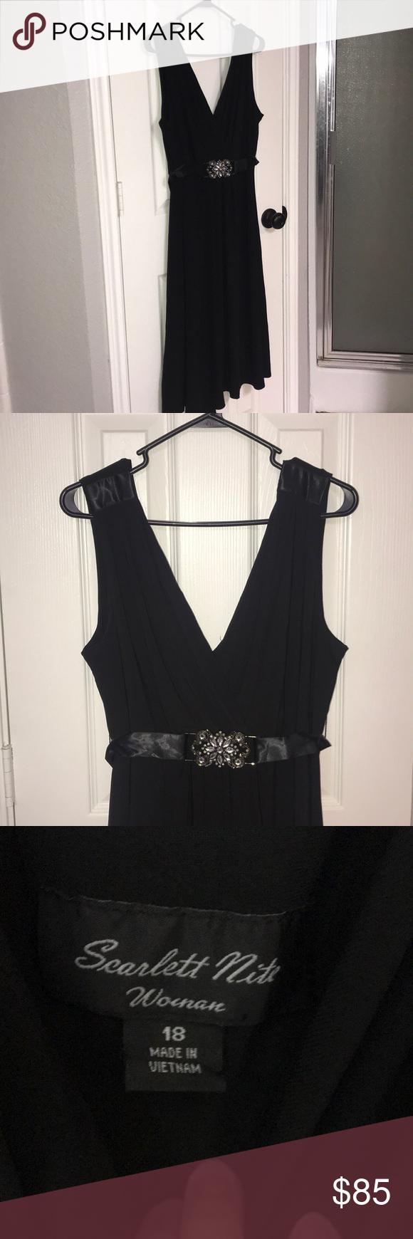 Euc Midi Black Formal Dress Size 18 Plus Size Size 18 Dress Black Dress Formal Dresses [ 1740 x 580 Pixel ]