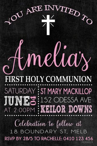 communion digital printable invitation confirmation digital