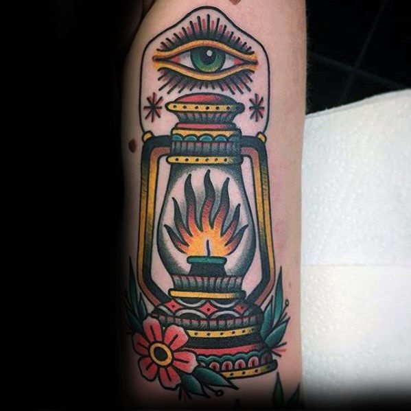 50 Traditional Lantern Tattoo Designs For Men Bright Ink Ideas Lantern Tattoo Tattoo Designs Men Traditional Tattoo