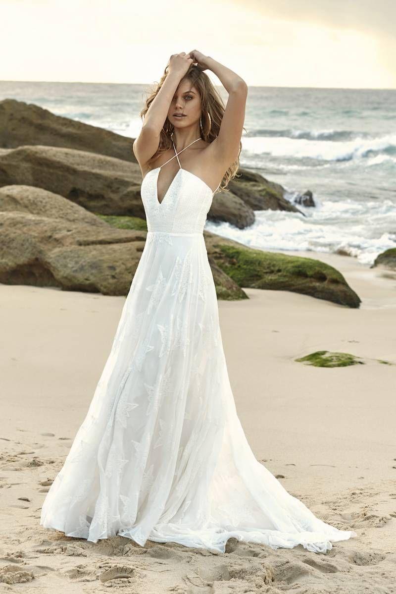 5 Boho Chic Beach Wedding Dress Designers In 2019 The D R E S S
