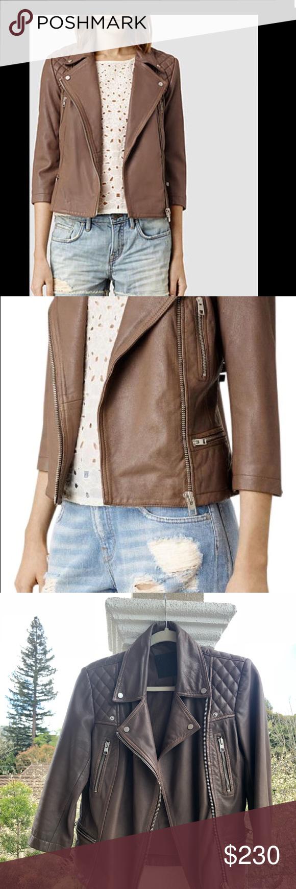 All Saints Leather Jacket. US size 6 All saints leather