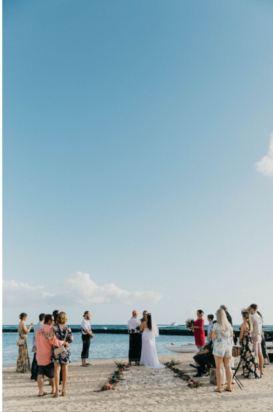 Waikiki Beach Wedding Fl Aisle Erin Paris Photography Hawaii Weddings By Tori Rogers Oahu Elopement Ceremony