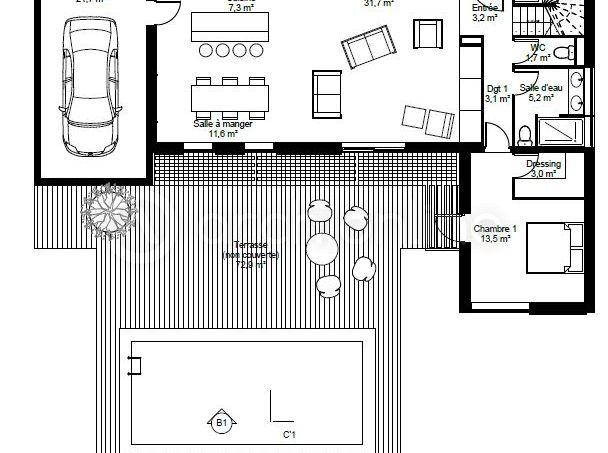 Maison Lounge  une maison Moderne conçue par l\u0027architecte - plan maison etage m