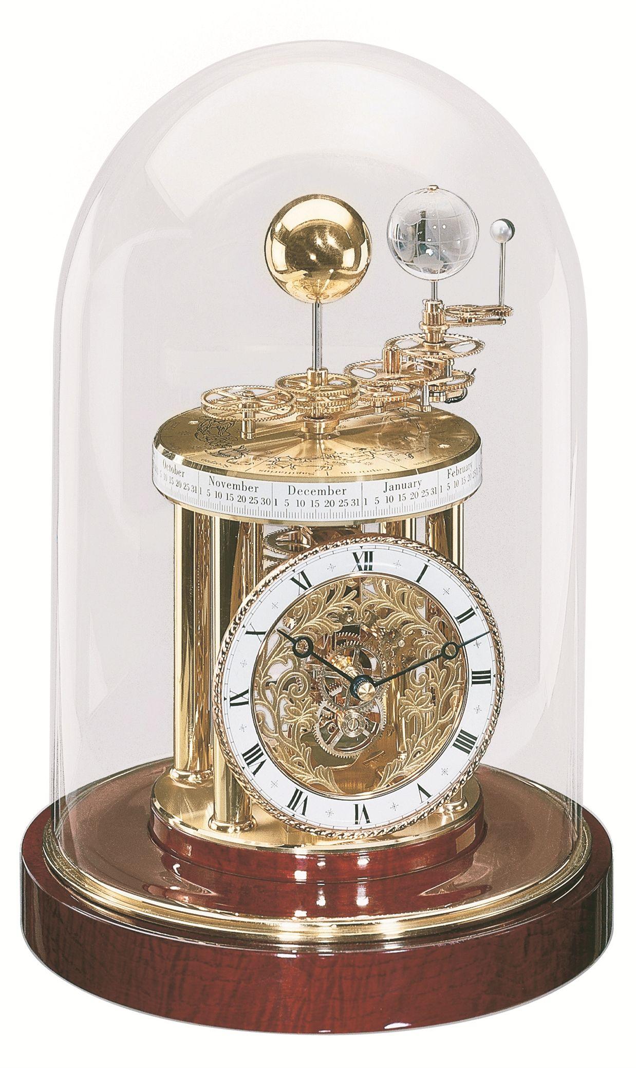 Globe Tellurion Clock  Antique VINTAGE Look Table Top Decor
