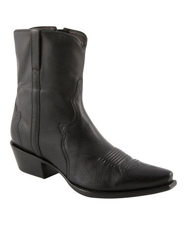 Take a look at this Black Ranch Cowboy Boot - Men by Lucchese on #zulily