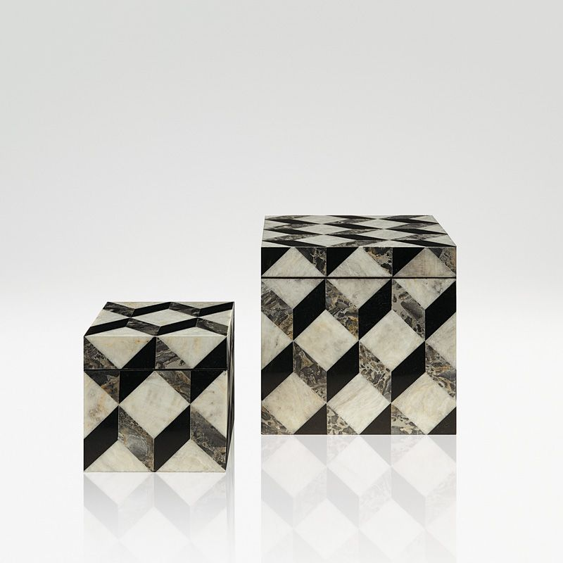Ares  SMALL BOX GEOMETRICAL 3D PATTERN