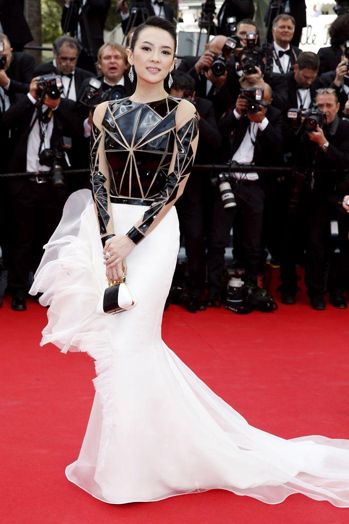 Celebrity Style - Zhang Ziyi- monstylepin #fashion #celebrity #style #celebrityfashion #redcarpet #eveninggown #ballgown #eveningwear #zhangziyi