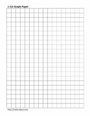 Practice Your Math Skills With This Printable Centimeter Graph
