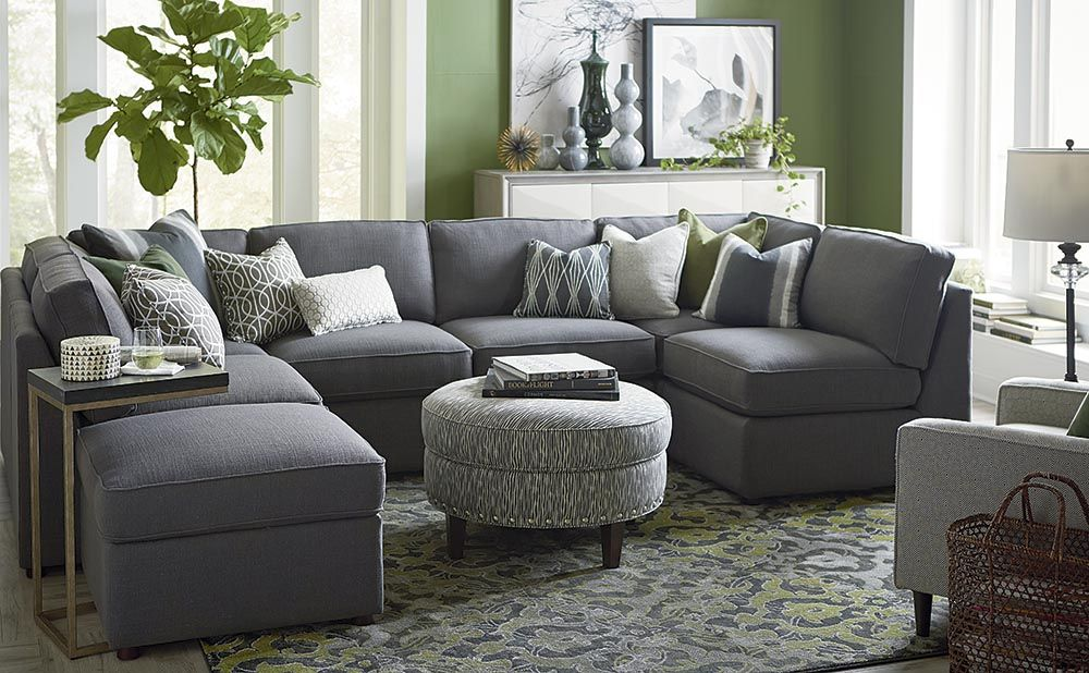 U-Shaped Sectional | Living room furniture layout, Living ...