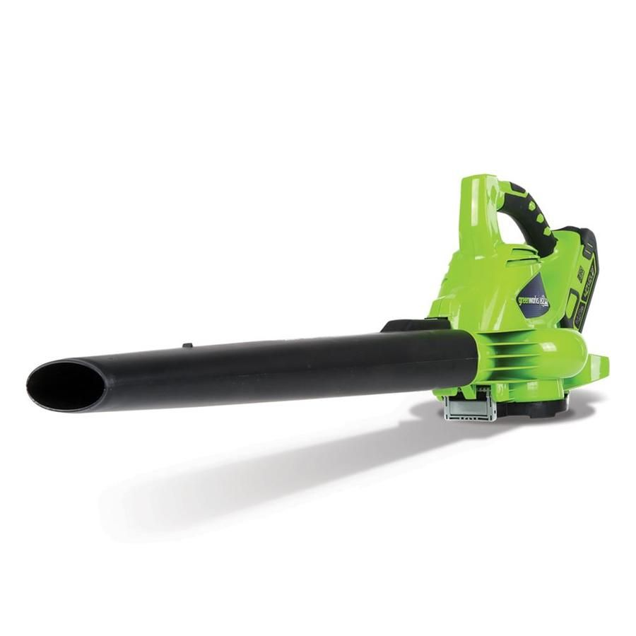 Greenworks 40 Volt Max Lithium Ion Brushless Cordless Electric Leaf Blower 1 Battery Included Lowes Com Electric Leaf Blowers Leaf Blower Greenworks