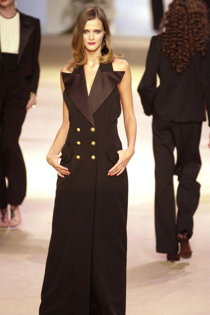 YSL tuxedo-style gown