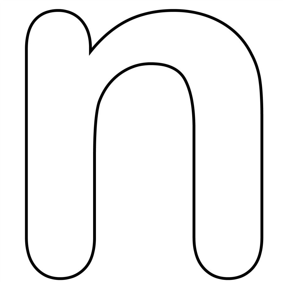 Letter N Coloring Pages For Preschool Lettering Alphabet