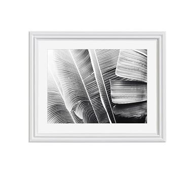 Lush leaves framed print by lupen grainne 20 x 16 ridged distressed frame white mat