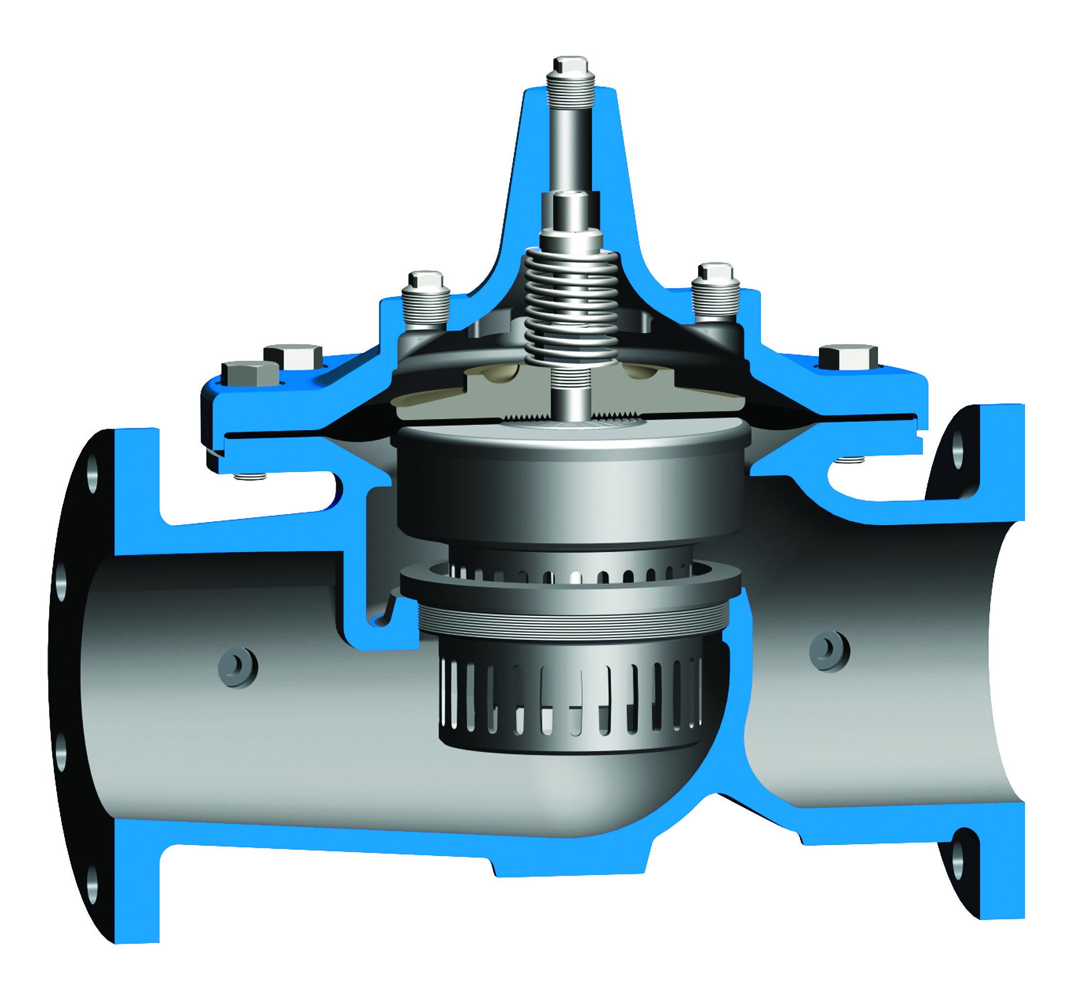 Cutaway of globe valve Pneumatik, Hydraulik, Technik