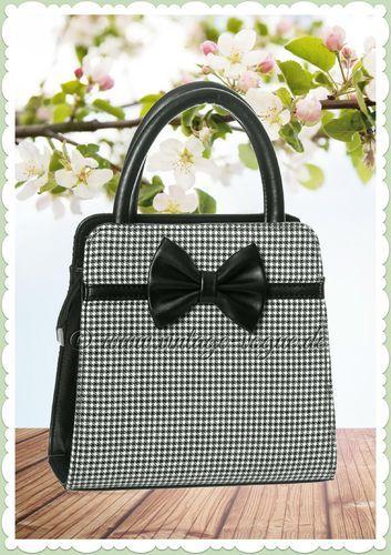 new product d5f01 dcd21 Banned 50er Jahre Vintage Hahnentritt Handtasche - Carla ...