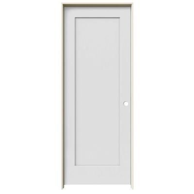Jeld Wen 24 In X 80 In Madison Primed Right Hand Smooth Molded Composite Mdf Single Prehung Interior Door Jw191200570 The Home Depot Prehung Interior Doors Doors Interior Interior Closet Doors