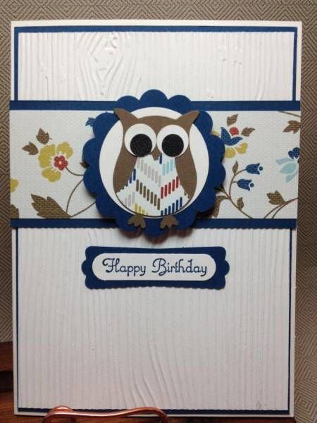 The Paper Hen: Owl Happy Birthday Create a Cupcake by laura513 - Cards and Paper Crafts at Splitcoaststampers