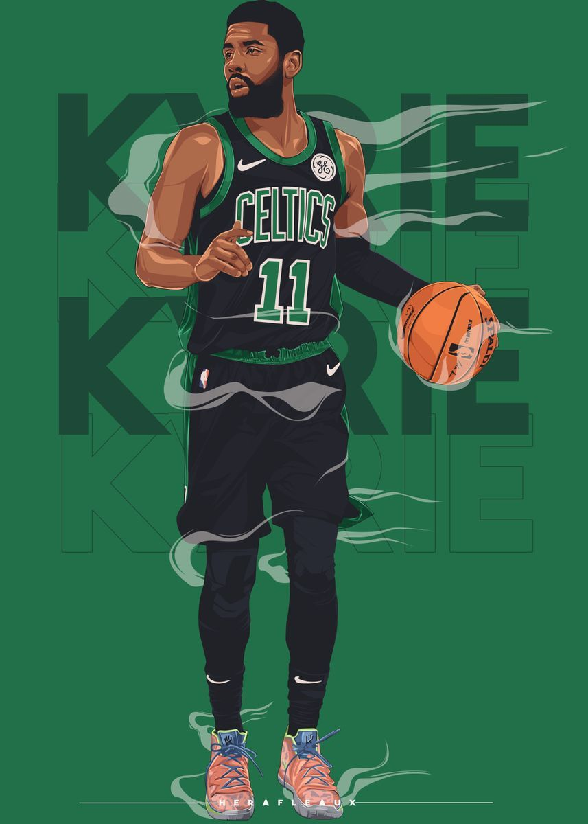 kyrie irving poster print by jushtine