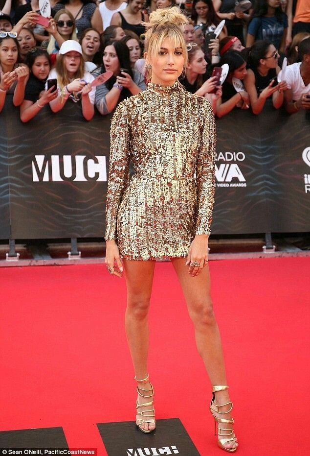 Hailey Baldwin Kayat Junho  Iheartradio Much Music Video Awards