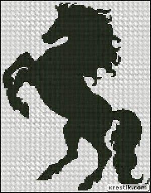 Horse scheme download monochrome embroidery horse animals